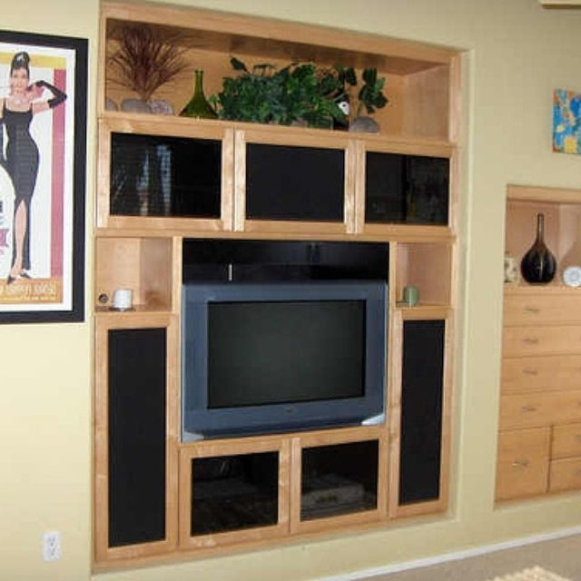 Recent Murphy 72 Inch Tv Stands Throughout Custom Built Wall Units & Custom Made Built In Tv Wall Units (View 15 of 20)