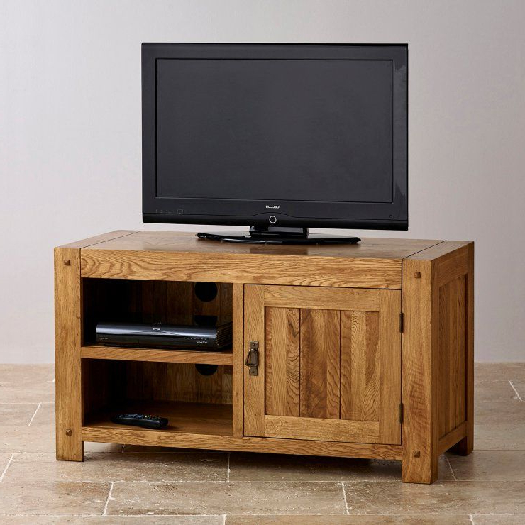 Recent Oak Furniture Tv Stands With Regard To Quercus Tv Cabinet In Rustic Solid Oak (Gallery 2 of 20)