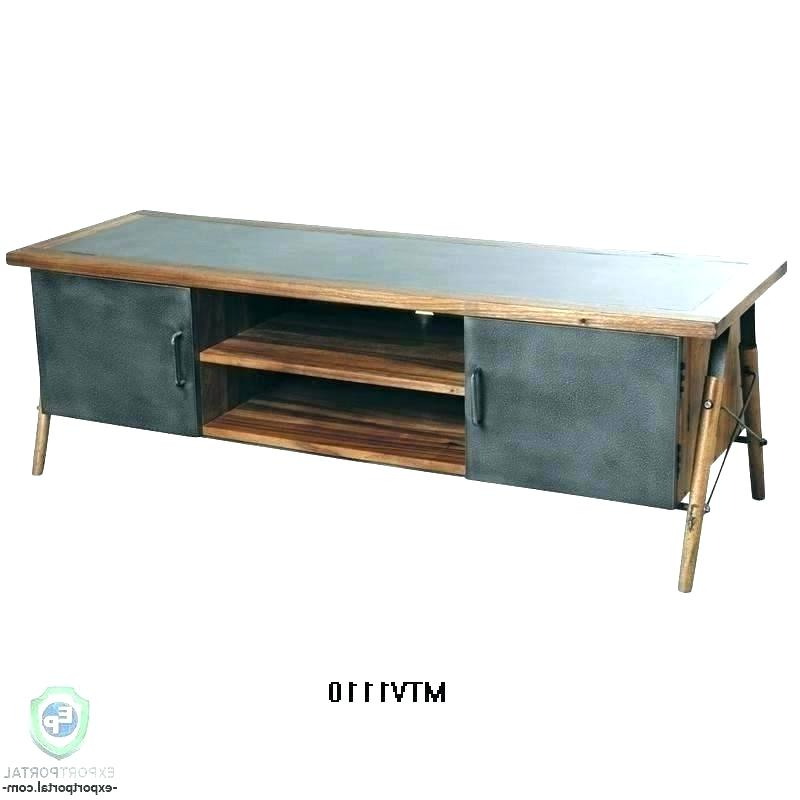 Recent Rustic Metal Tv Stand Metal Console Metal Console Stands Inside Wood And Metal Tv Stands (View 11 of 20)