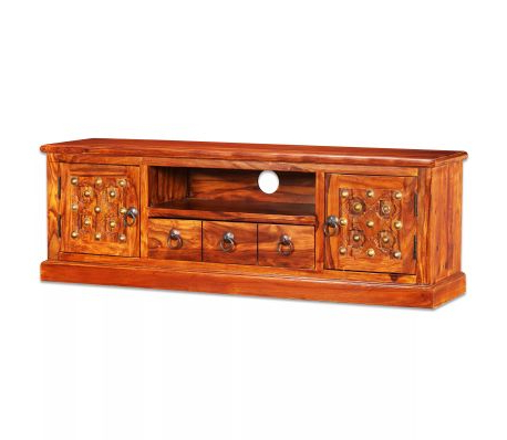 Recent Sheesham Wood Tv Stands In Vidaxl Tv Stand Solid Sheesham Wood 120X30X40 Cm (Gallery 11 of 20)