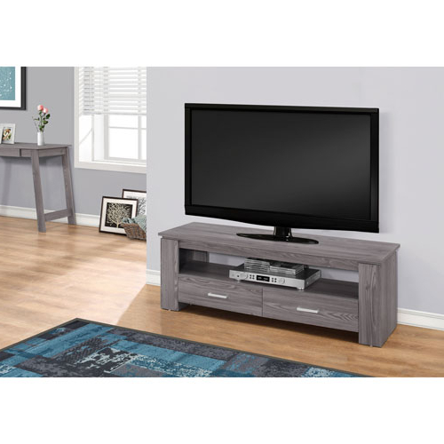 Recent Sleek Tv Stands Inside Hawthorne Ave Grey 48 Inch Tv Stand With 2 Storage Drawers I (View 4 of 20)