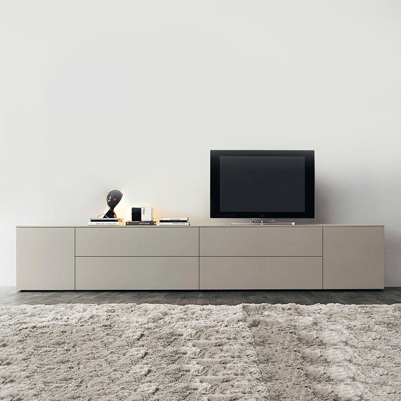 Recent Space Extra Large Cream Tv Unit, Gloss Or Matt Inside Tv Drawer Units (View 10 of 20)