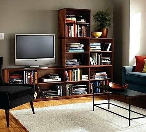 Recent Tv Stands With Bookcases Throughout Living Room Bookcase Tv Stand With Matching Bookcases Bookshelf For (View 16 of 20)