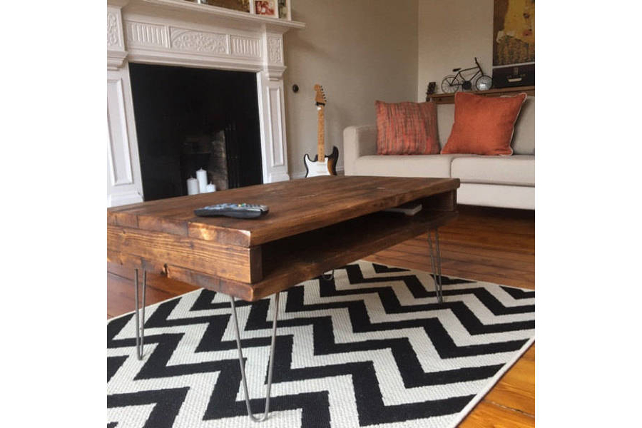 Reclaimed Pine Rustic Box Coffee Table / Tv Stand Solid Wood Metal Throughout Most Recently Released Rustic Coffee Table And Tv Stand (Gallery 7 of 20)