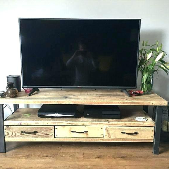 Reclaimed Wood And Metal Tv Stand Metal And Wood Stand Best Regarding Trendy Reclaimed Wood And Metal Tv Stands (View 10 of 20)