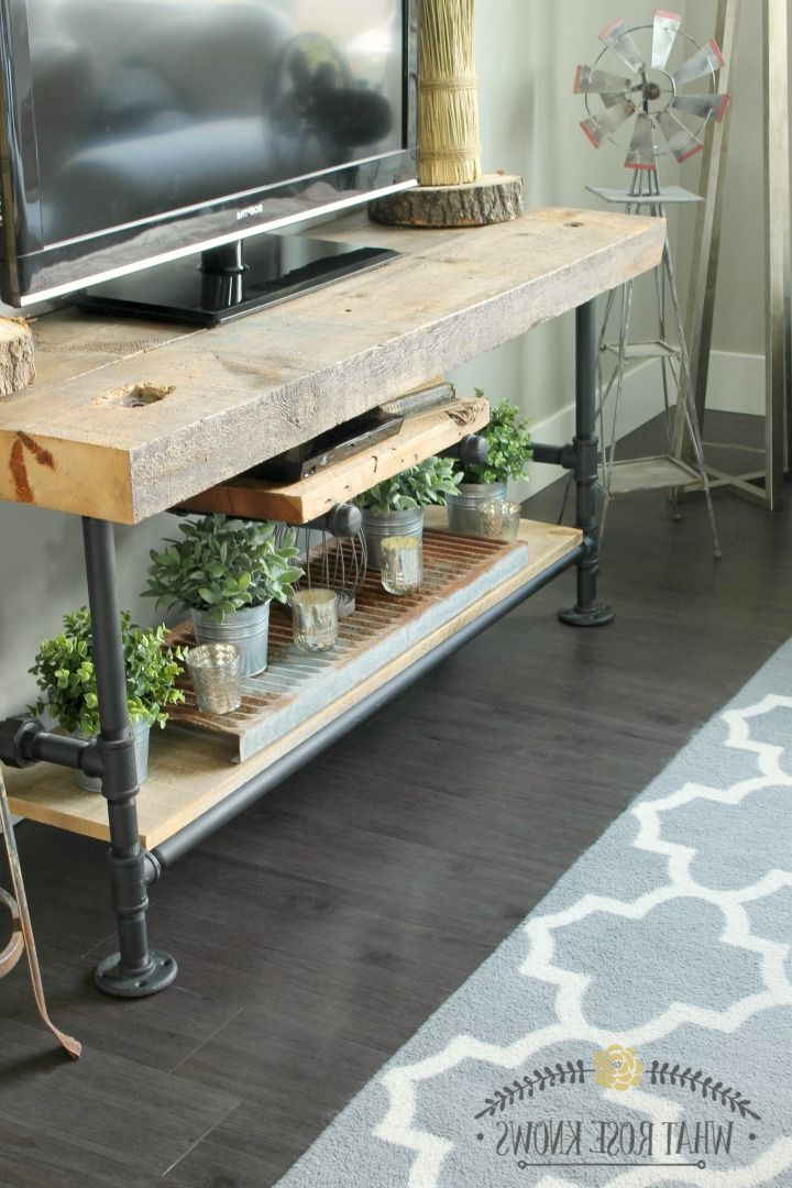 Reclaimed Wood And Metal Tv Stands Inside Widely Used Reclaimed Wood & Black Pipe Tv Stand In  (View 12 of 20)