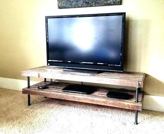 Reclaimed Wood And Metal Tv Stands Pertaining To Most Recent 36 High Tv Stand High Stand Wide Stand Stunning High Quality (View 12 of 20)