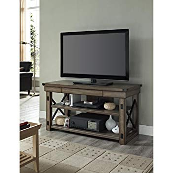 Reclaimed Wood And Metal Tv Stands Regarding Most Recently Released Modern Industrial Rustic Wood And Black Metal Tv Stand – For (View 15 of 20)