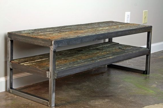 Reclaimed Wood And Metal Tv Stands With Regard To Widely Used Buy A Handmade Rustic Reclaimed Wood Tv Stand. Minimalist Media (Gallery 2 of 20)