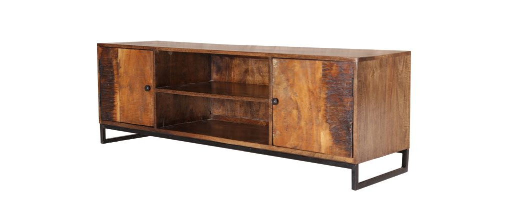 Recycled Wood Tv Stands With Regard To Current Madras Recycled Wood Tv Stand – Miliboo (View 6 of 20)