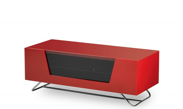 Red Gloss Tv Cabinets For Most Popular Omega – Red High Gloss Tv Unit – Fishpools (Gallery 15 of 20)