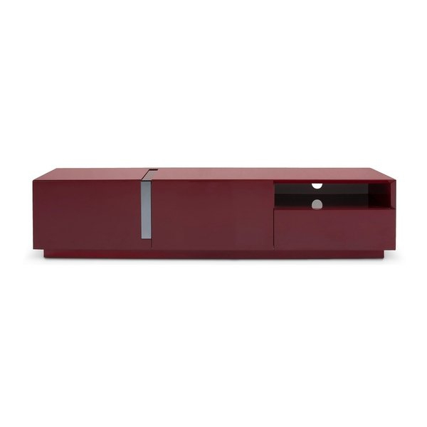 Red Gloss Tv Stands In Preferred Shop J And M Furniture Red Gloss Wood Tv Stand – Free Shipping Today (View 13 of 20)