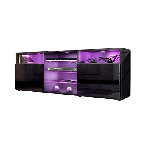 Red Gloss Tv Stands Pertaining To Best And Newest Led Tv Unit: Amazon.co.uk (Gallery 15 of 20)