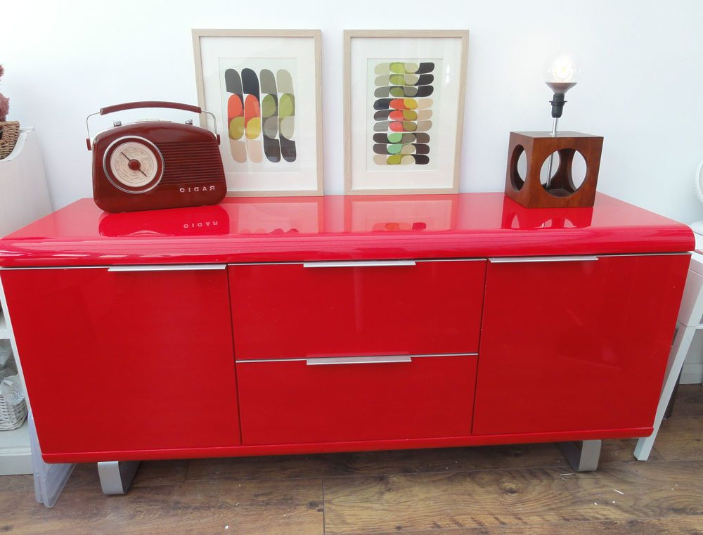 Red Gloss Tv Stands Regarding Best And Newest Fabulous Red Gloss Sideboard Or Tv Stand : : 145Cm Wide (View 16 of 20)
