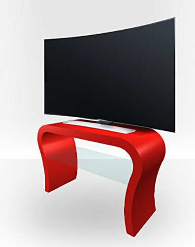 Red Gloss Tv Stands Within Newest Amazon: Zespoke Curved Tv Stand – Red Gloss: Kitchen & Dining (View 17 of 20)