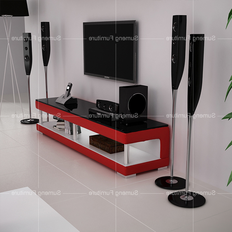 Red Modern Tv Stands Inside Newest Simple Stylish Red Color Tv Stand Modern Glass Television Stand (Gallery 16 of 20)