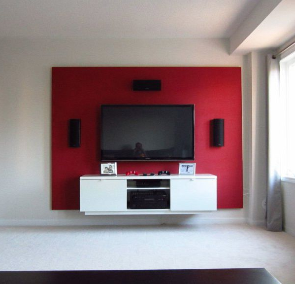 Red Modern Tv Stands Regarding Widely Used Tv Stand Design Ideas, Corner Tv Stand, Tv Unit Design, Wooden Tv (Gallery 14 of 20)