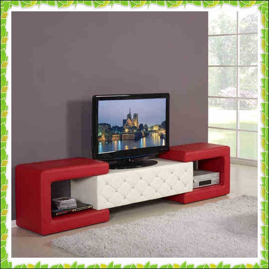 Red Tv Stands Pertaining To Latest Functional Apartment Tv Racks Red White Leather Tv Stands Hot (Gallery 6 of 20)