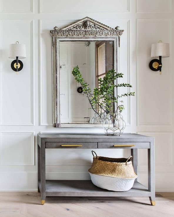 Restoration Hardware Graydon Shagreen 2 Drawer Console Table Against In Famous Ventana Display Console Tables (Gallery 14 of 20)