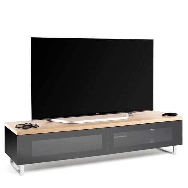 Retro Tv Cabinet Modern Television Stand Contemporary Wooden Unit Within Well Liked Wood Tv Stand With Glass (View 11 of 20)