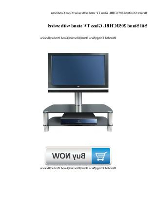 Review Stil Stand 2053Chbl Glass Tv Stand With Swivel Good Intended For Well Liked Stil Tv Stands (Gallery 14 of 20)