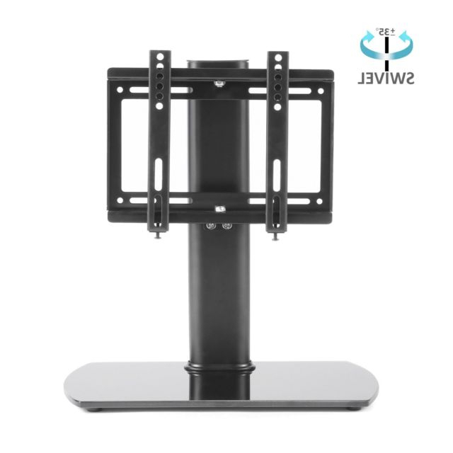 Rfiver Universal Swivel Tabletop Tv Stand With Mount For 26 Inch To With Most Up To Date Tv Stands Swivel Mount (View 14 of 20)