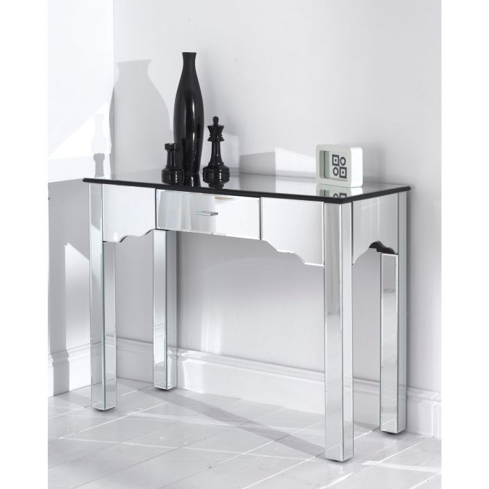 Roman Metal Top Console Tables Inside Popular Mirrored Romano Console Table (Gallery 14 of 20)