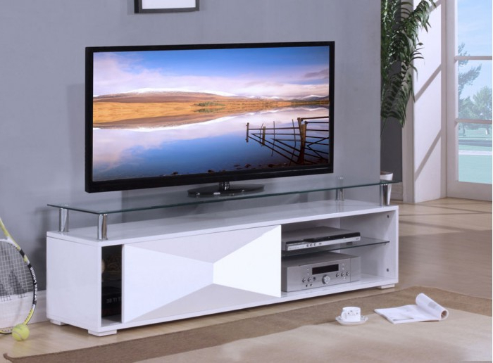 Rowley High Gloss White Tv Stand (Gallery 11 of 20)