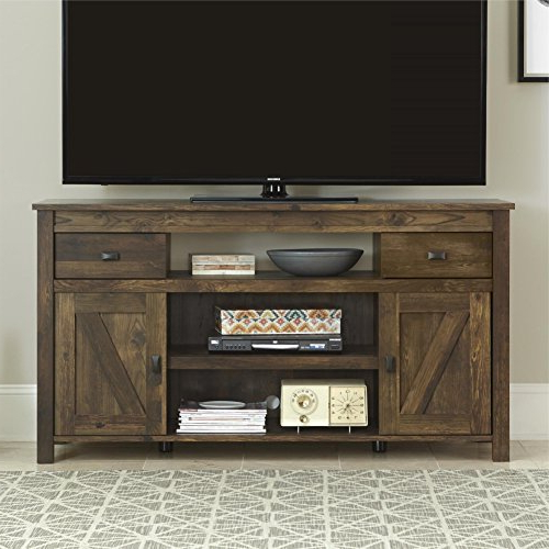 Rustic 60 Inch Tv Stands Regarding Popular Amazon: Altra Farmington Century Barn Pine Finish Rustic 60 Inch (Gallery 3 of 20)