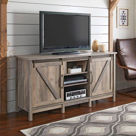 Rustic 60 Inch Tv Stands With Regard To Best And Newest Better Homes And Gardens Modern Farmhouse Entertainment Credenza For (View 16 of 20)