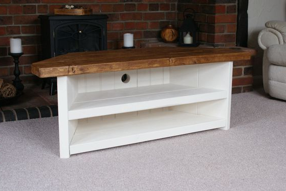 Rustic Corner Tv Cabinets Inside Well Liked How To Easily Build A Rustic Corner Tv Stand And How To Make (View 9 of 20)