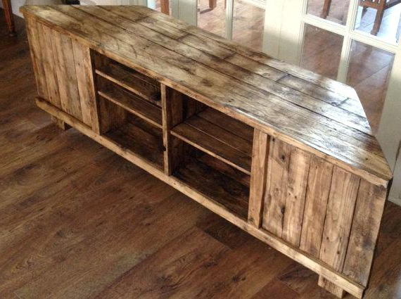 Rustic Corner Tv Stands Regarding Most Recent Rustic Corner Tv Standon Wood Stands – Meanwhilenews (View 19 of 20)