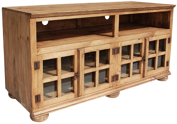 Rustic Furniture – Jaime Mexican Rustic Pine Tv Stand Inside Most Recently Released Pine Tv Cabinets (Gallery 5 of 20)