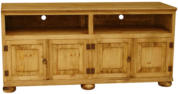 Rustic Furniture – Santana Mexican Rustic Pine Tv Stand W/ Bunn Feet For Favorite Rustic Pine Tv Cabinets (View 11 of 20)