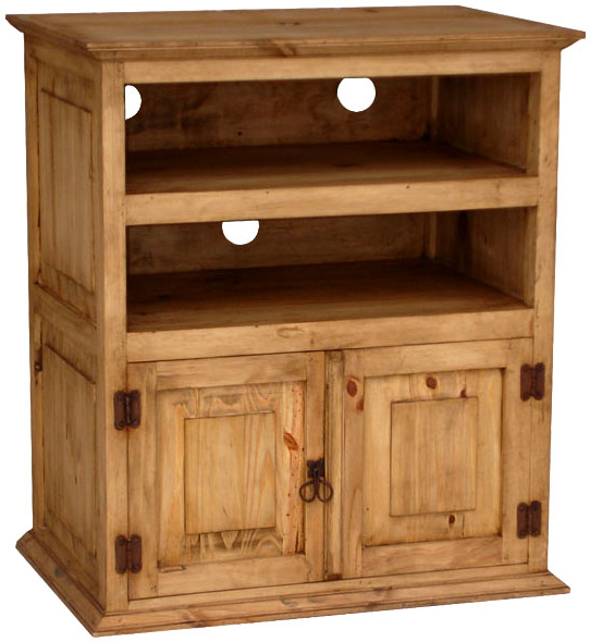 Rustic Furniture – Tall Mexican Rustic Pine Tv Stand With 2018 Rustic Pine Tv Cabinets (View 3 of 20)