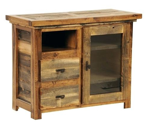 Rustic Furniture Tv Stands Intended For Well Known Rustic Furniture Tv Stand Small Reclaimed Wood Sustainable Stands (Gallery 5 of 20)