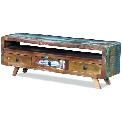 Rustic Metal Tv Stand Metal Console Metal Console Stands With Well Known Reclaimed Wood And Metal Tv Stands (View 16 of 20)