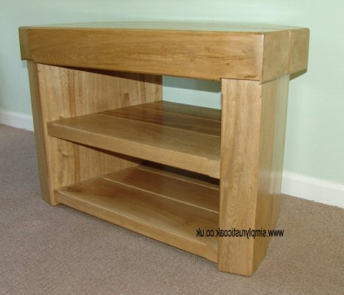 Rustic Oak 3 Beam Corner Tv Stand – Simply Rustic Oak Intended For Widely Used Oak Corner Tv Stands (Gallery 10 of 20)