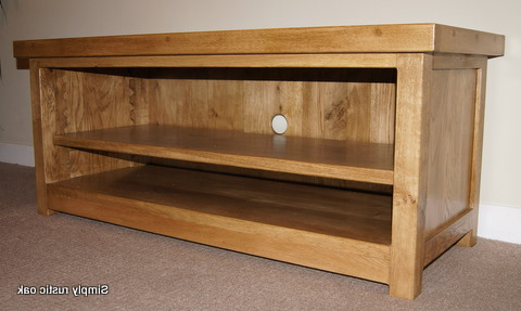 Rustic Oak Barker Tv Stand 2 – Simply Rustic Oak Inside Well Known Oak Tv Stands (View 17 of 20)
