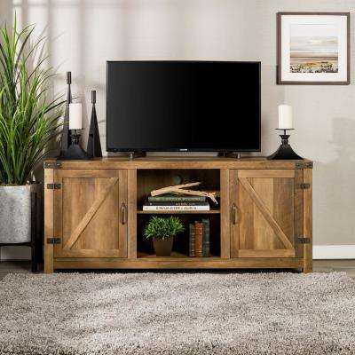 Rustic Oak Tv Stands With Regard To Trendy Rustic Oak – Tv Stands – Living Room Furniture – The Home Depot (Gallery 4 of 20)