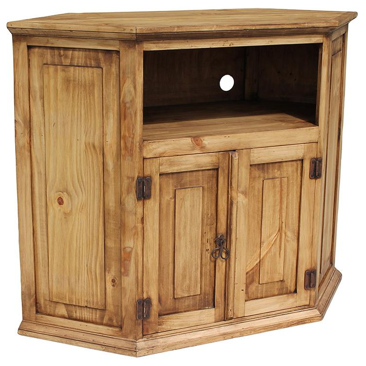 Rustic Pine Collection – Corner Tv Stand – Com11 Within Widely Used Rustic Corner Tv Stands (View 4 of 20)