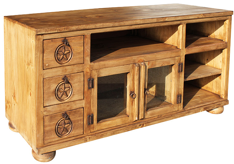 Rustic Pine Tv Cabinets For Preferred Rustic Furniture – Rubio Star Mexican Rustic Pine Tv Stand (View 17 of 20)