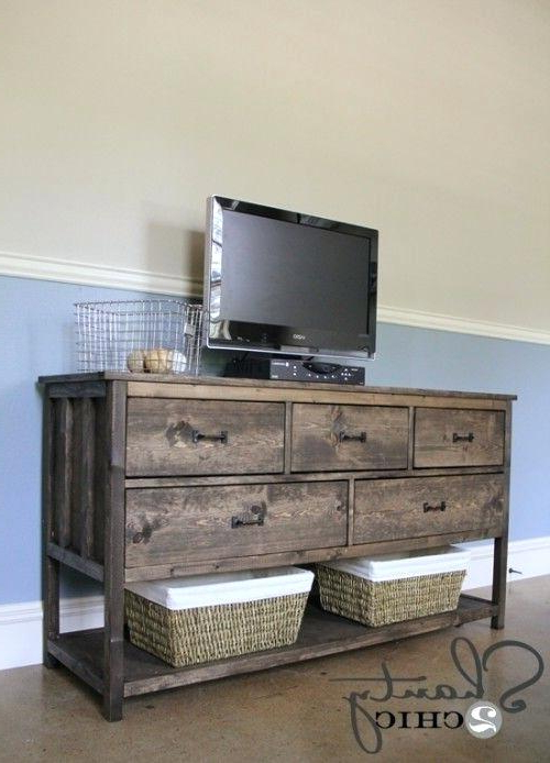Rustic Red Tv Stands Pertaining To Trendy Dark Red Tv Stand Impressive Series Of Rustic Red Stands With Best (View 13 of 20)