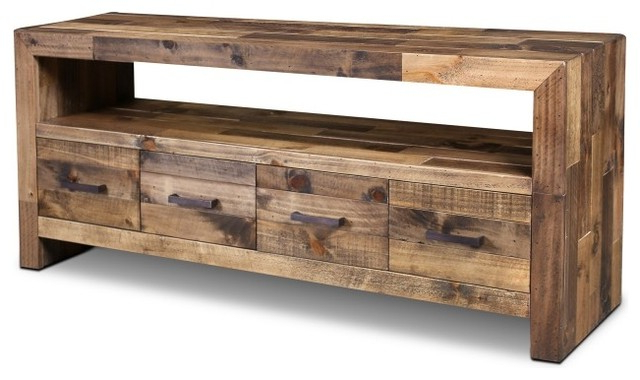 "Rustic Style Fulton Tv Stand, 65"" – Contemporary – Entertainment Inside Most Up To Date Tv Tables (View 8 of 20)"