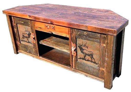 Rustic Tv Stands For Sale Throughout Most Recently Released White And Brown Rustic Tv Stand Stands The Brick Home Improvement (View 15 of 20)