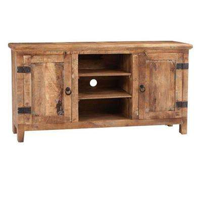 Rustic Wood Tv Cabinets With Regard To Well Liked Rustic – Tv Stands – Living Room Furniture – The Home Depot (View 14 of 20)