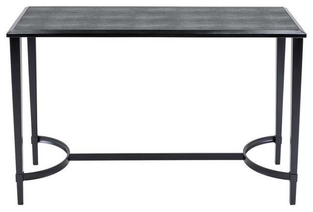 Safavieh Cayman Faux Shagreen Console Table, Black – Transitional In Well Known Faux Shagreen Console Tables (View 17 of 20)