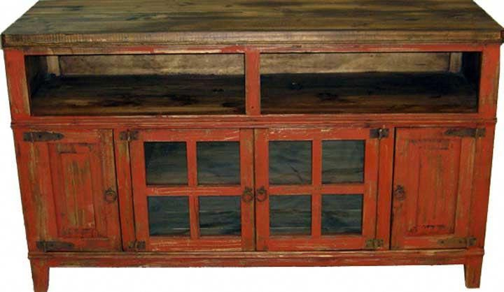 """Santa Fe Antique Red 60"""" Tv Stand #""""tvstanddiy"""" (View 3 of 20)"""