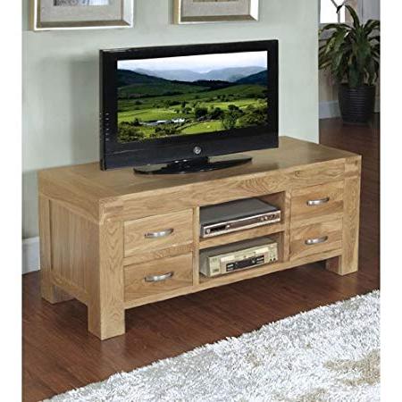 Santana Oak Tv Furniture In 2018 Santana Blonde Oak Tv Cabinet, Bsttv10: Amazon.co (View 13 of 20)