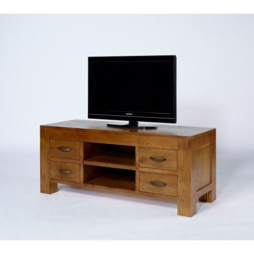 Santana Rustic Oak Tv Unit Regarding Most Up To Date Santana Oak Tv Furniture (View 17 of 20)